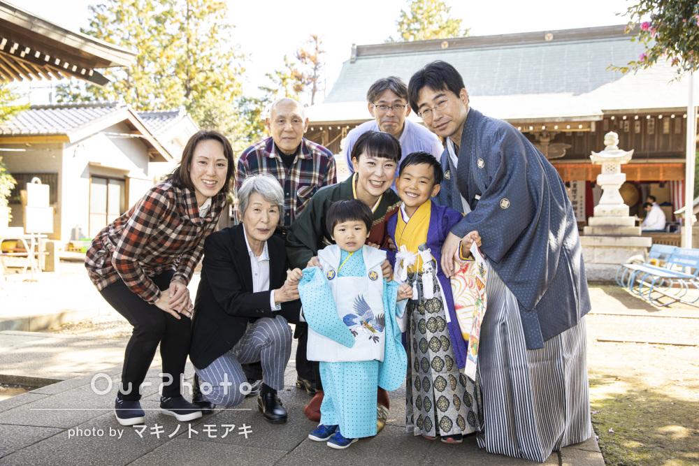 「いい写真ばかりでありがとうございました!」家族で和装姿の七五三撮影