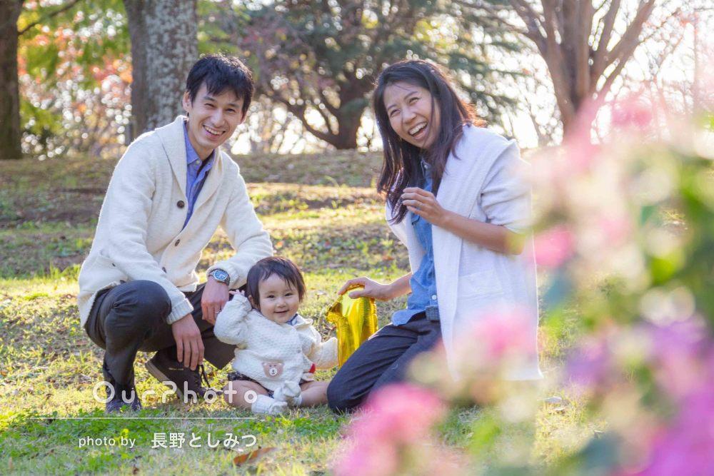 「娘にもいっぱい話しかけていただいた」優しくて温かい家族写真の撮影