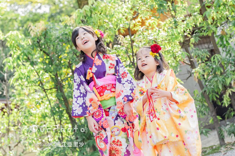 「親でもなかなか撮れない笑顔の写真がいっぱい」姉妹の七五三の撮影