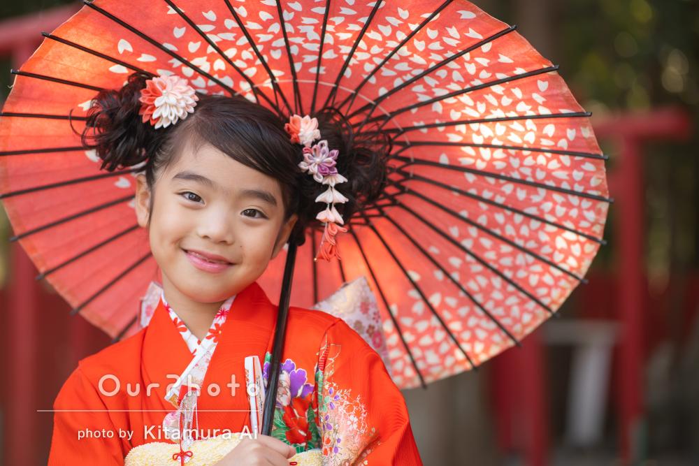 「自由に動く娘達に合わせて」自然な表情がカワイイ!7歳の七五三写真