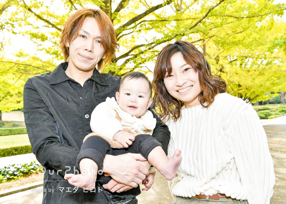 「自然な写真がいっぱい撮れて良かったです!」家族写真の撮影