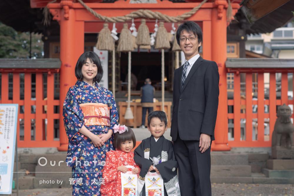 「子ども達が機嫌良く撮影できました」七五三の家族写真撮影