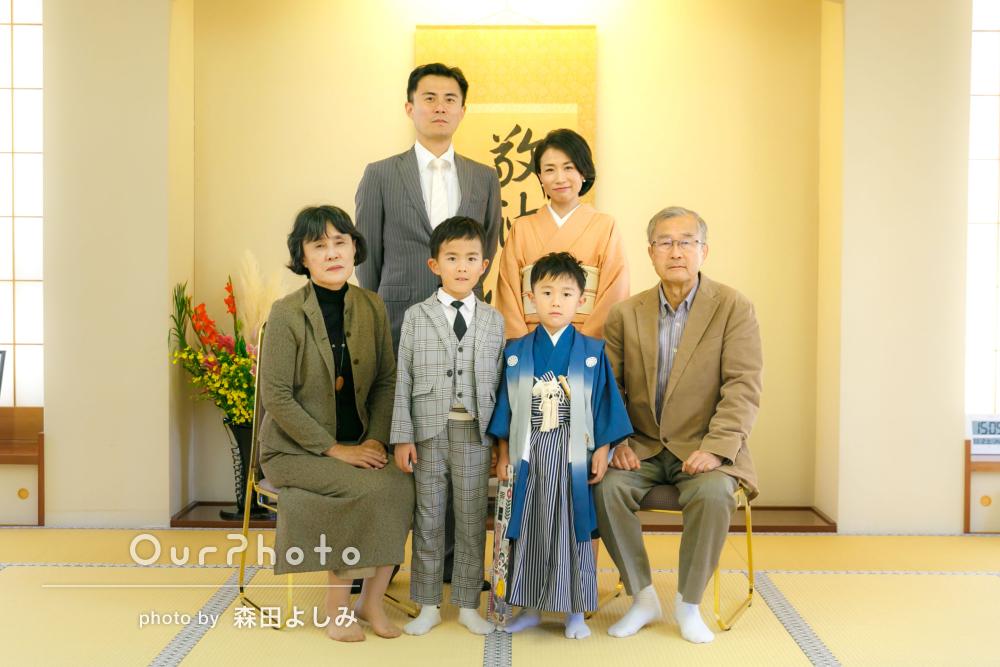 「撮影自体を子供たちも私達家族も楽しめました!」5歳の七五三の撮影