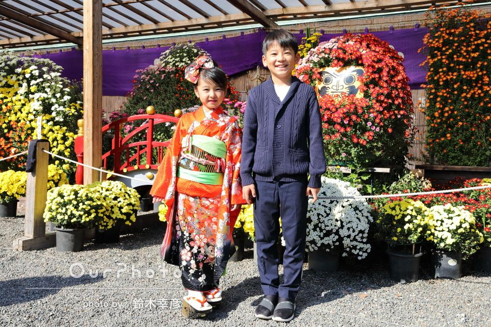 「綺麗な仕上がりで満足」ぽっくりが可愛い7歳の七五三詣りの撮影