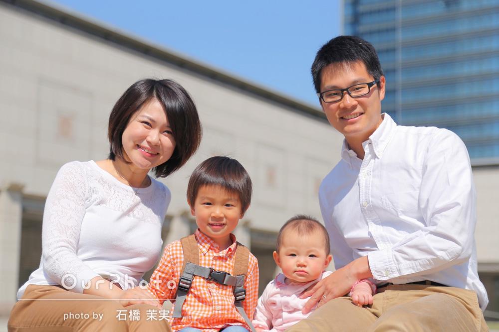 家族みんなが笑顔の写真