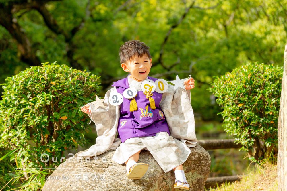 「色んな場所を提案」「秋の七五三らしい写真」3歳男の子の七五三の撮影