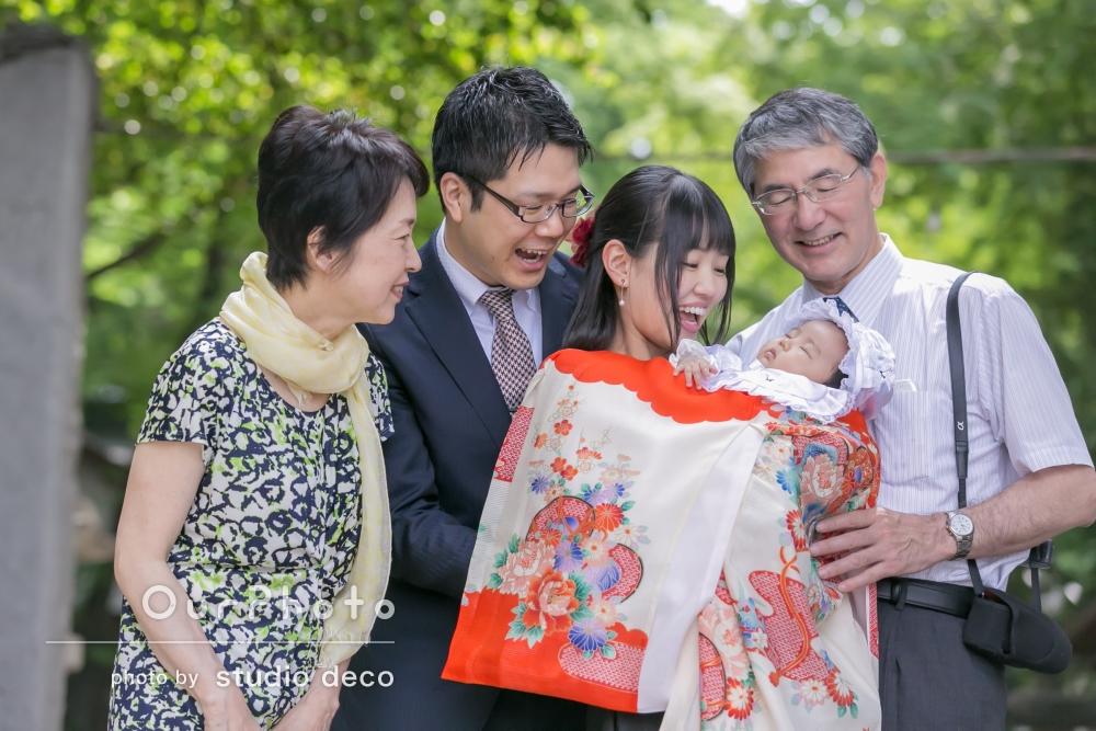 「自然な家族写真で出来上がりも大満足でした!娘が大きくなったときに見せるのが楽しみです!」お宮参りの撮影