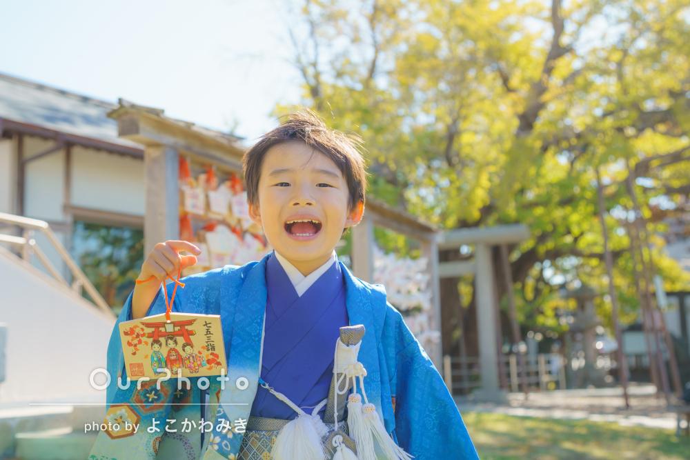 「自然な感じの写真がとても素敵」元気いっぱい5歳の男の子の七五三