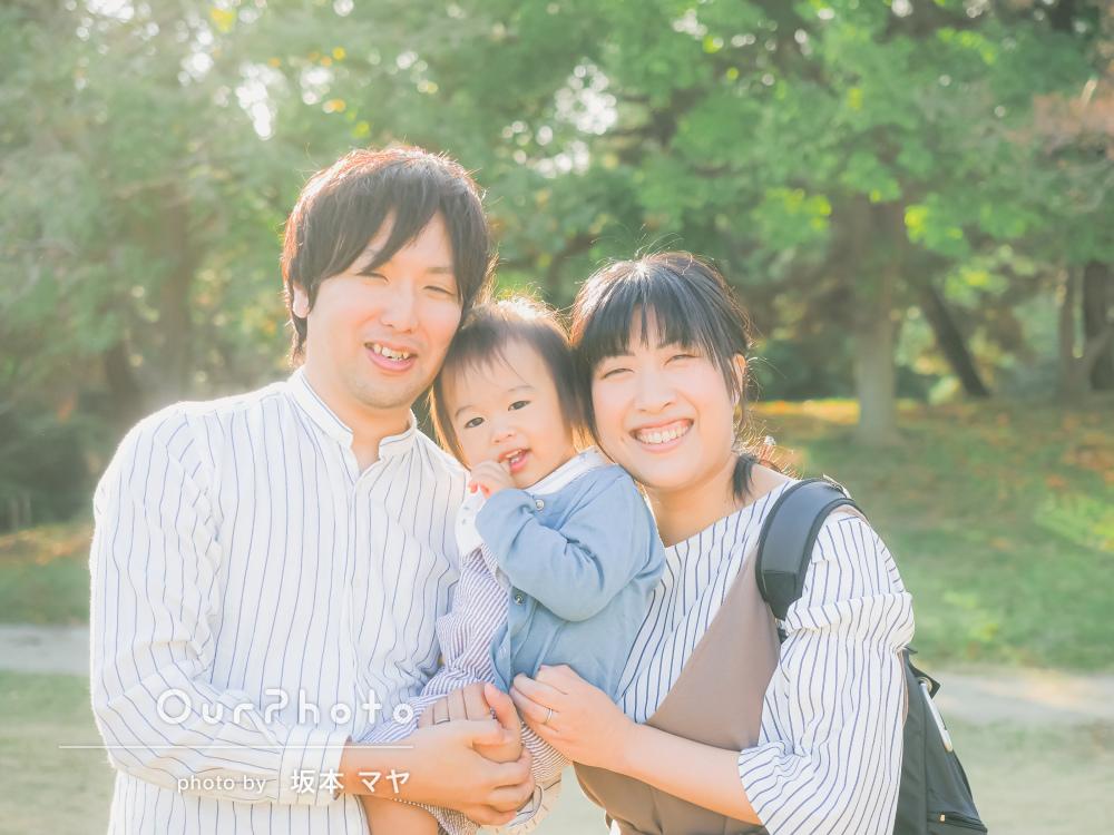 「いつもと変わらない様子を素敵に温かい雰囲気で」年賀状用の家族写真