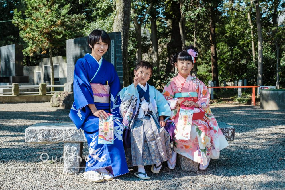 「子供達に優しく接して下さりました」7歳と5歳と七五三詣りの撮影