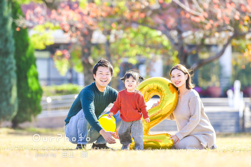「私達だけでは撮れないような素敵な笑顔」リピーターさんの家族写真