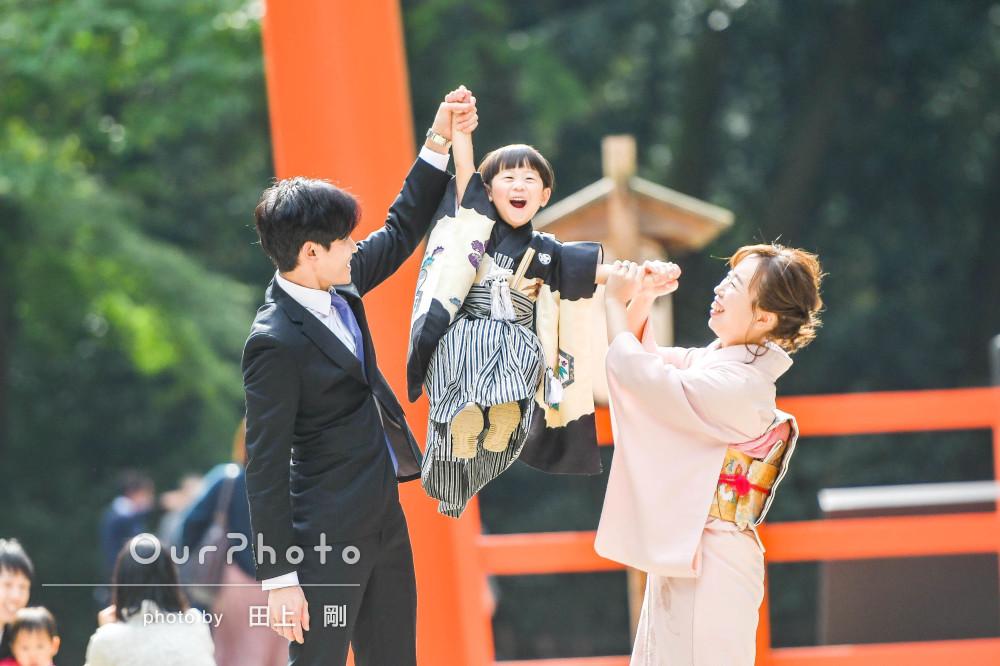 「可愛い写真がたくさん撮れて嬉しく」5歳の七五三詣りの撮影