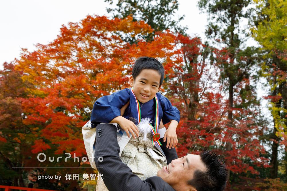 「いつも通りの子どもたちの姿で」5歳の七五三詣りの撮影