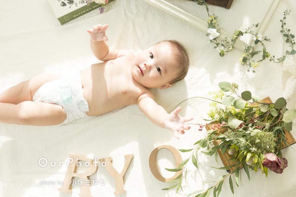ぷにぷにのおててが愛おしい!ご自宅と公園で赤ちゃんの撮影