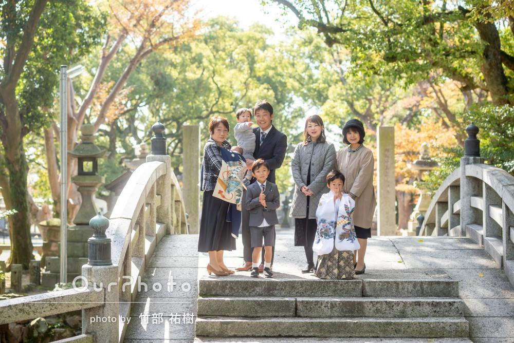 「終始楽しく快適に」元気いっぱいな4人兄弟のお宮参りと七五三の撮影