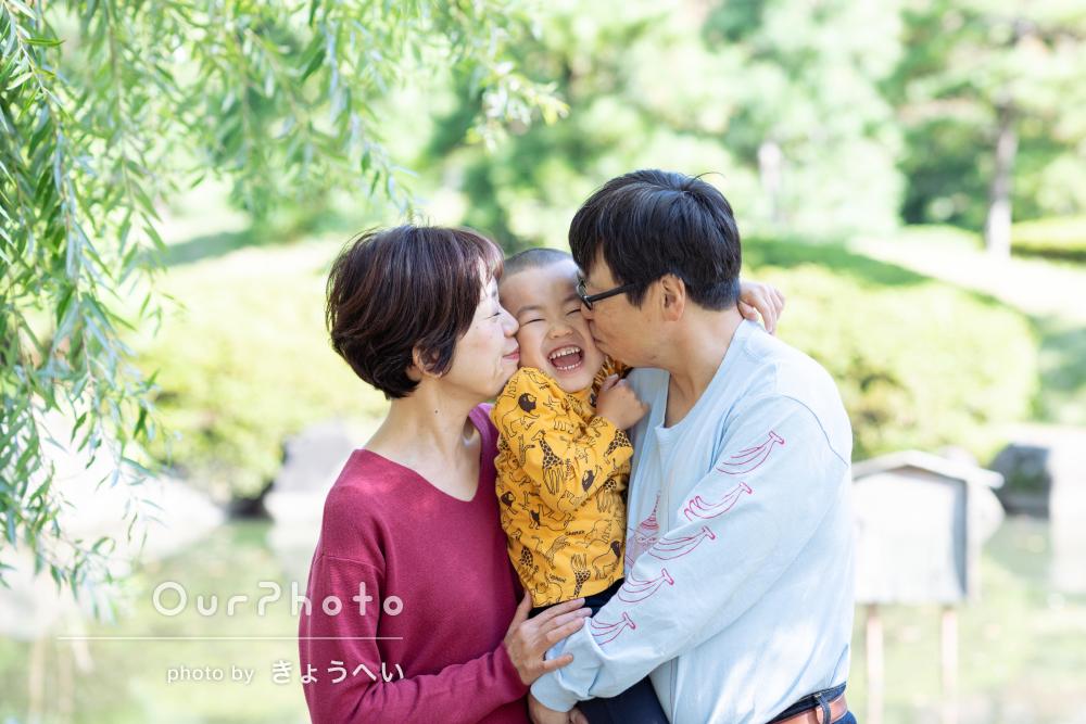 「私たちが普段撮らないような場所も考えて」家族写真の撮影