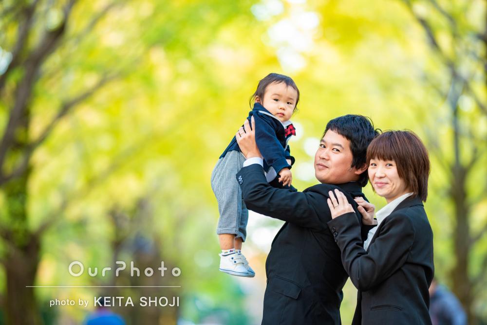 「とても楽しい撮影になり素敵な時間」1歳の誕生日記念に家族写真の撮影