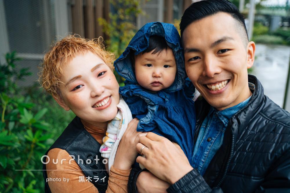 「子供にも話しかけてくださり楽しく撮影することができ」家族写真の撮影
