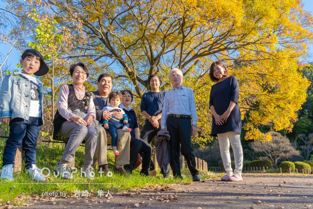 「さすがプロ!とてもいい記念」1歳の誕生日記念に家族写真の撮影