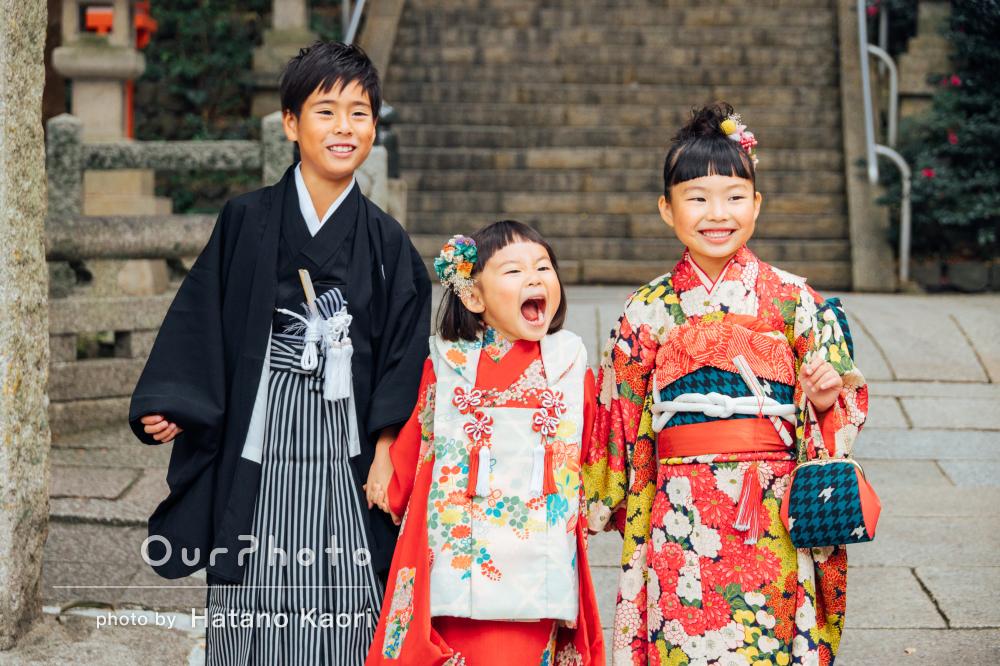 「成長の節目にステキな家族写真」兄妹3人での七五三の撮影