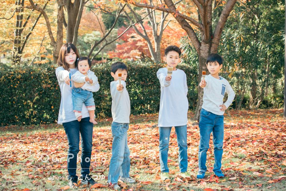 「とってもいい笑顔の写真がいっぱい」芸術の秋に感動!5人姉弟の撮影