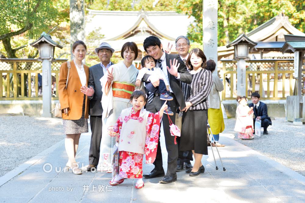 家族みんなの温かな気持ちに包まれた3歳の七五三詣りの撮影