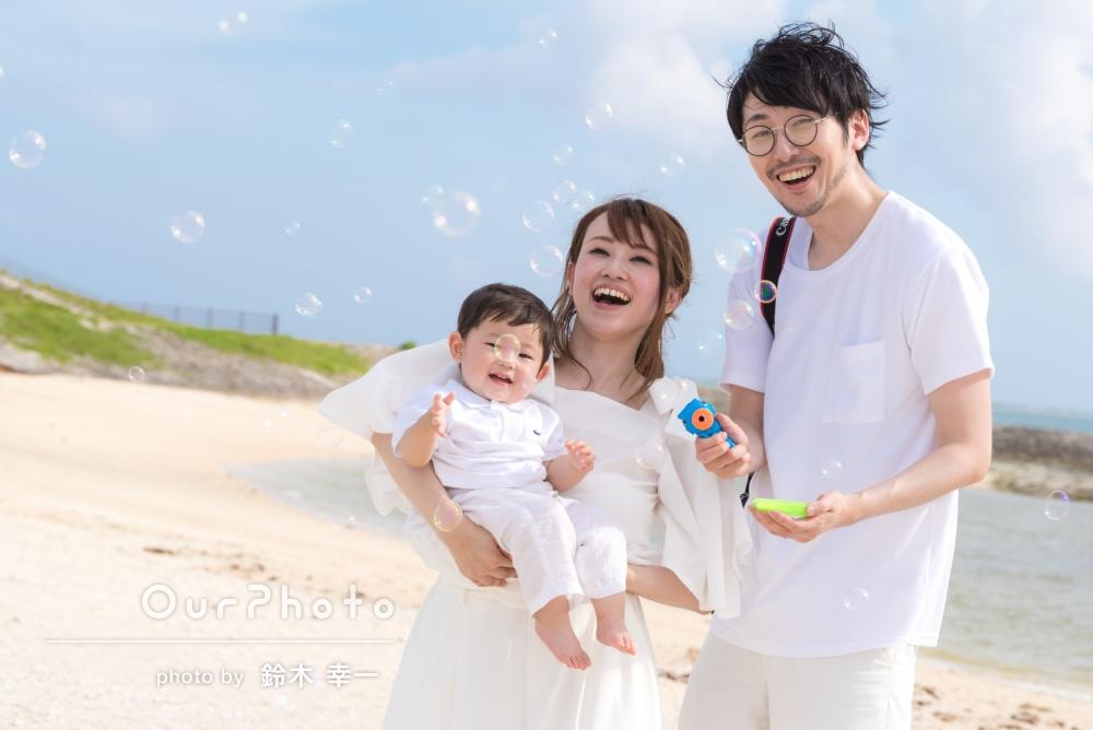 「どれも非常に満足度の高い、印象深い写真に仕上げていただけました。」旅行先で、自然な雰囲気の家族写真