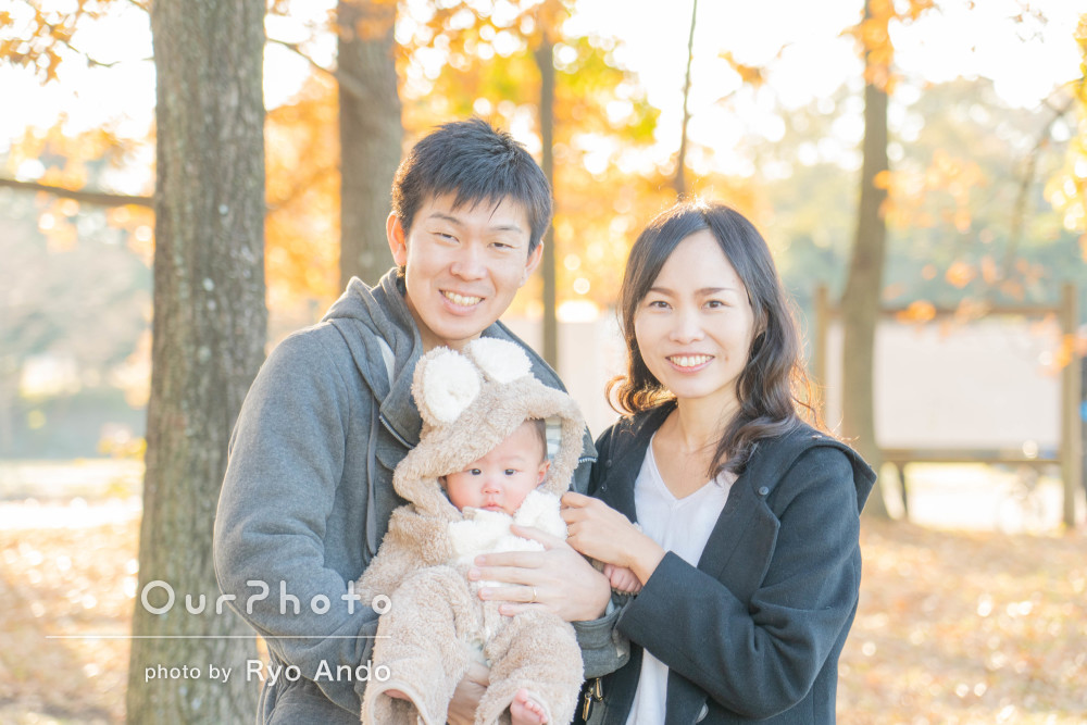「柔らかい表情を一瞬を切り取ってくれました」年賀状用写真の撮影