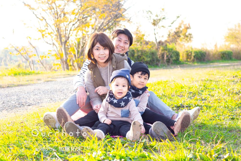 「自然な表情をとても素敵に」温かい雰囲気のご家族の撮影