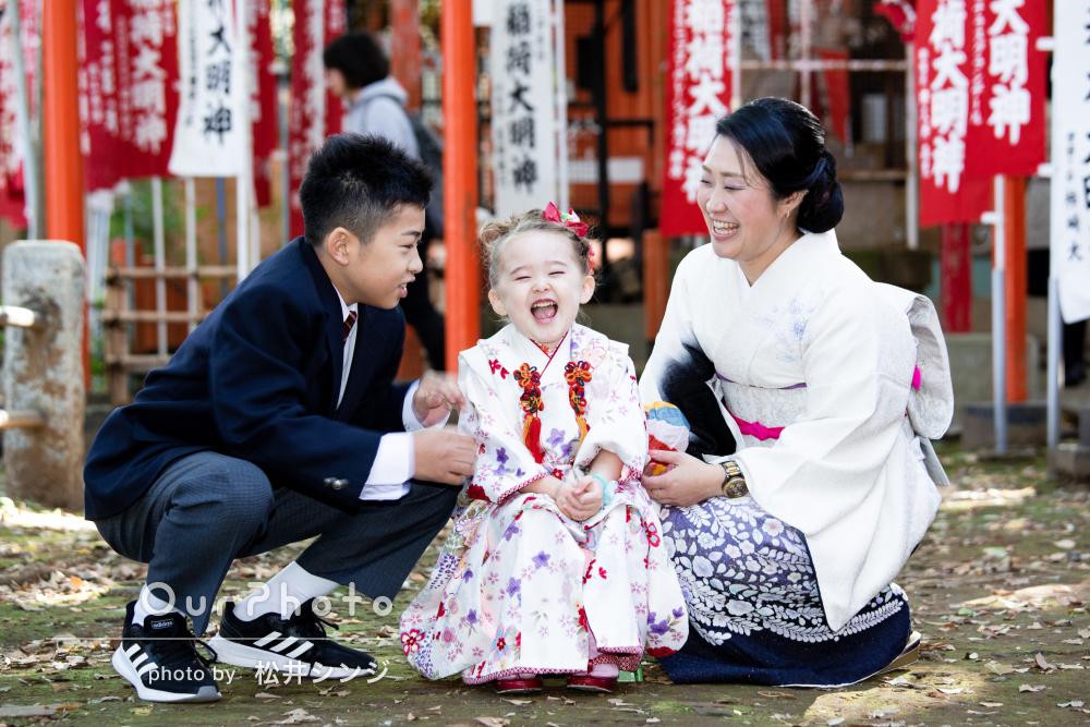 「色々なバリエーションの写真」2家族で一緒にお祝い!七五三の撮影
