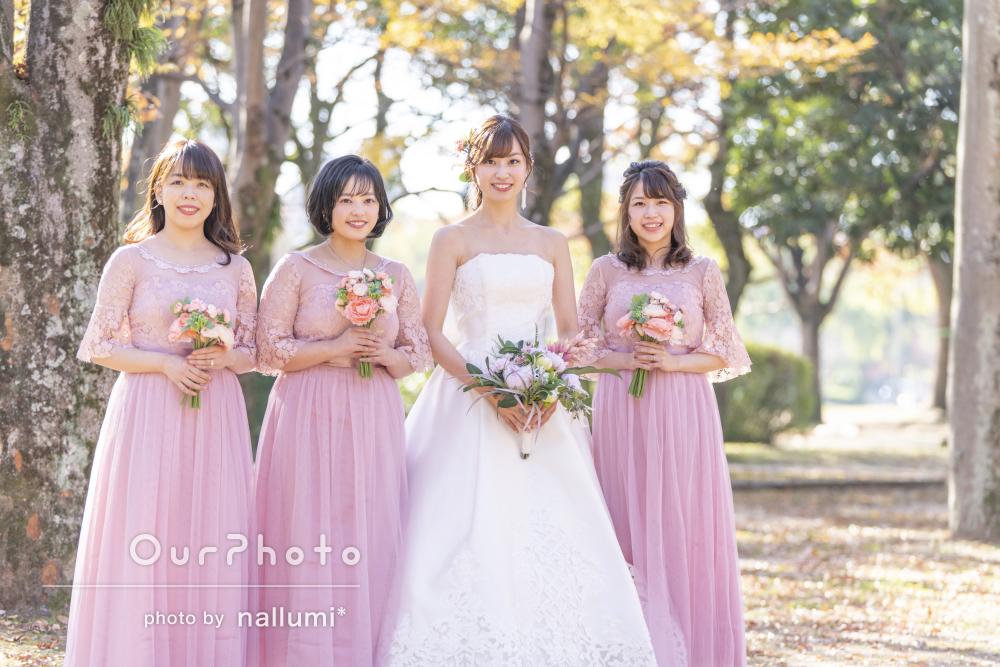 「自然体な写真がたくさん」華やかなブライズメイドと花嫁さんの撮影
