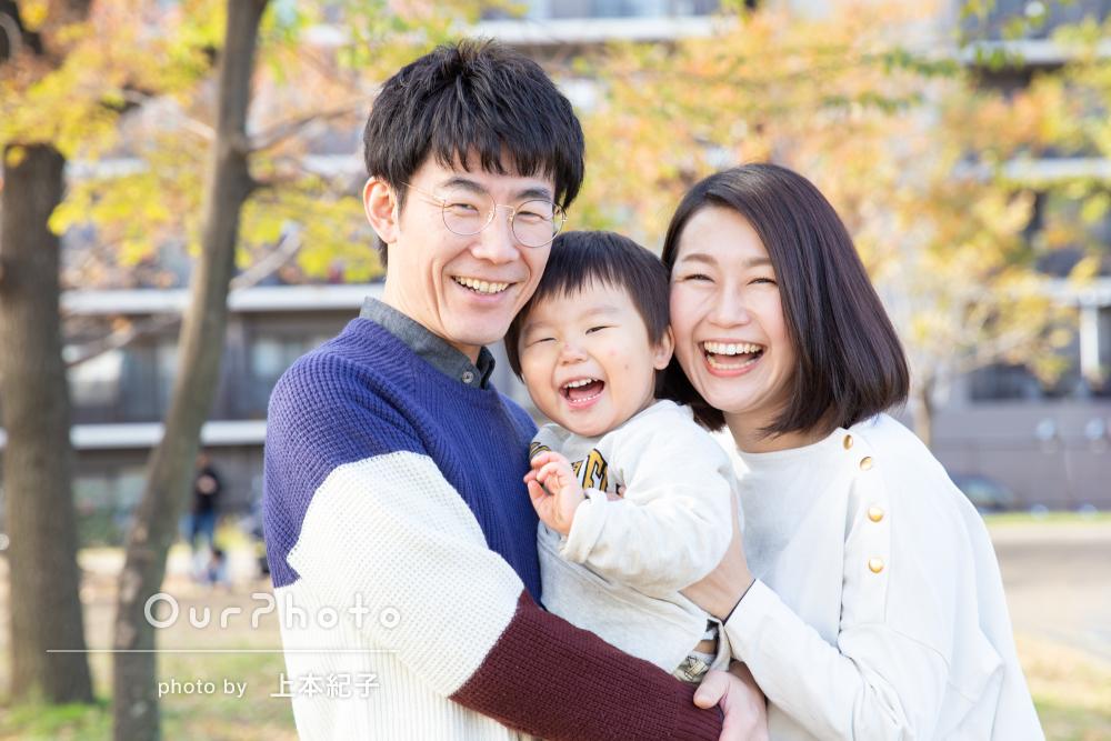 「ざっくりとした要望を的確に汲んでいただき」公園でご家族の撮影