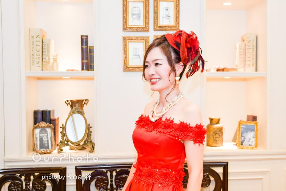 「こちらの要望にも応えてくださり」ドレスが印象的なプロフィールの撮影