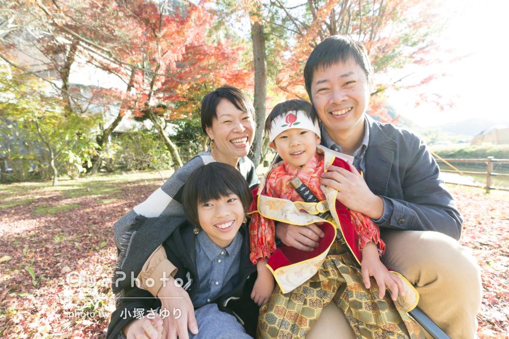 「子どもたちとも打ち解けてとても楽しく撮影」桃太郎の衣装で七五三撮影