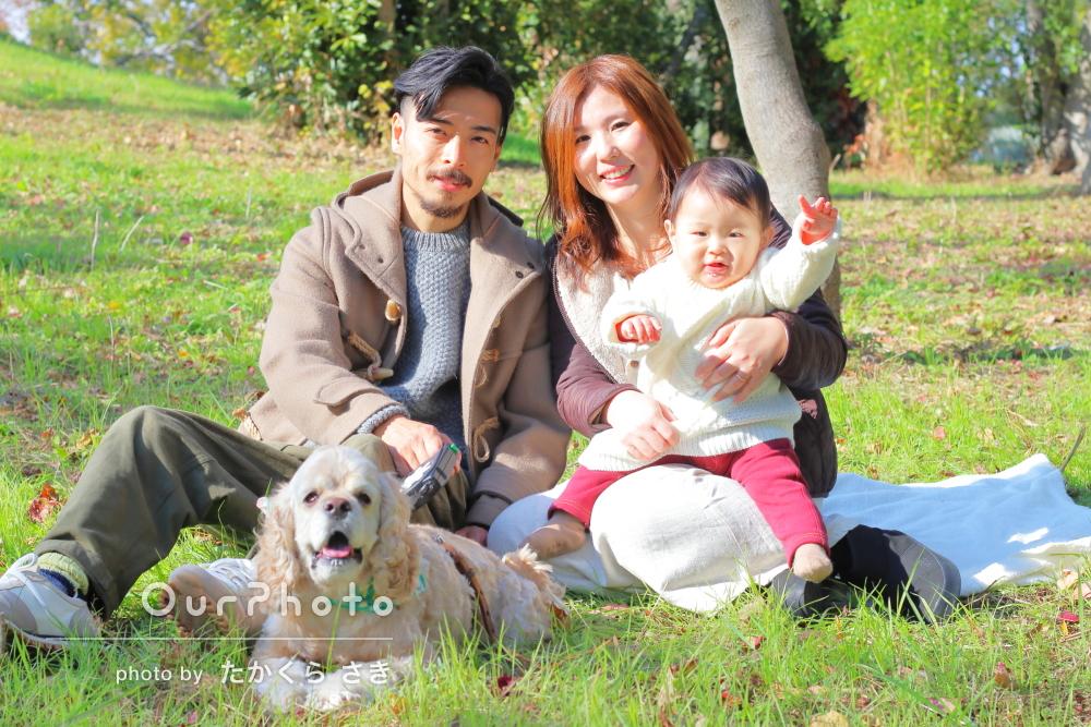 「娘と愛犬をかわいく撮ってもらえてとても満足してます」家族写真の撮影