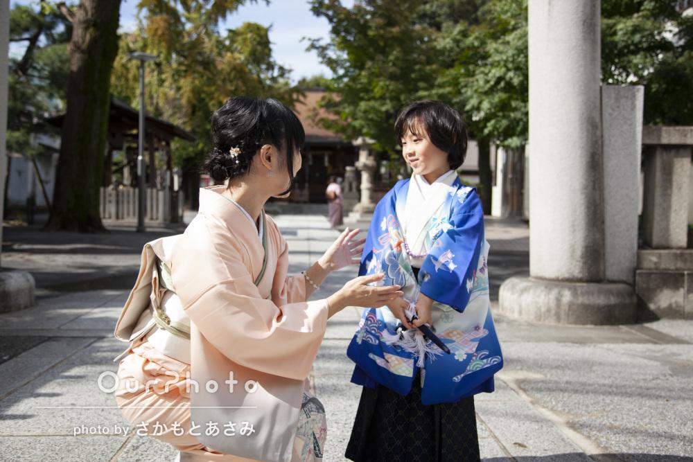 「素敵なお写真がいっぱい」神社で5歳七五三の撮影