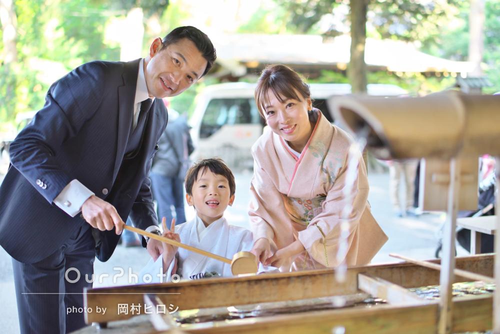 袴姿でかっこいいショットがいっぱい撮れました!5歳七五三写真の撮影