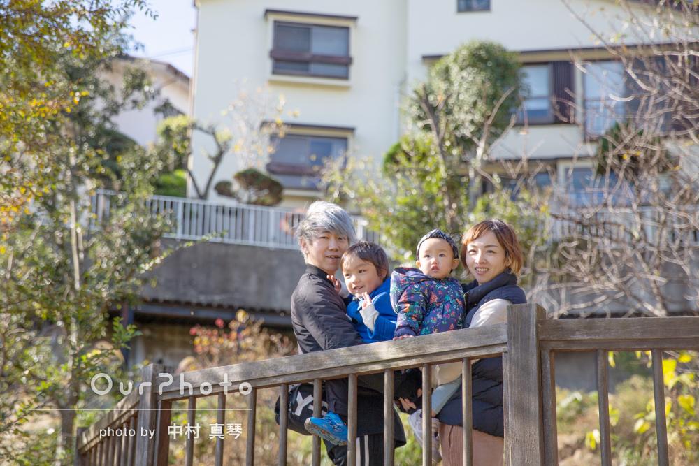 「写真に緩急をつけてくださり」年賀状にぴったり!ご家族の撮影