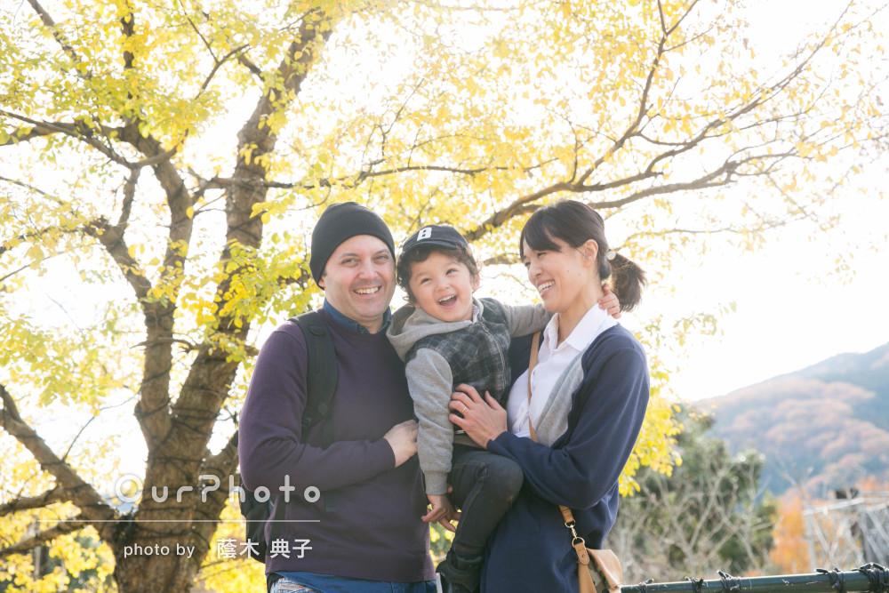 「素人には難しいはしゃぐ姿を」3歳のバースデーに遊園地でご家族の撮影