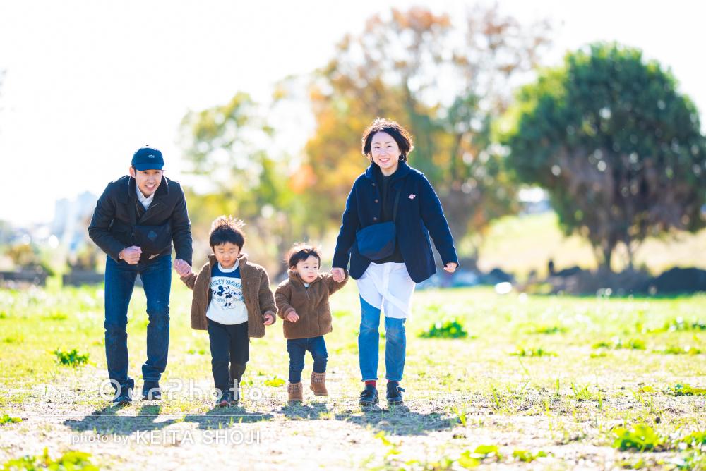 「子どもたちも楽しく撮影でき」広い芝生が気持ちいい!ご家族の撮影