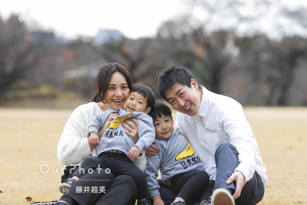 「良い写真が多すぎて選ぶのが大変」年賀状にぴったりな家族写真撮影
