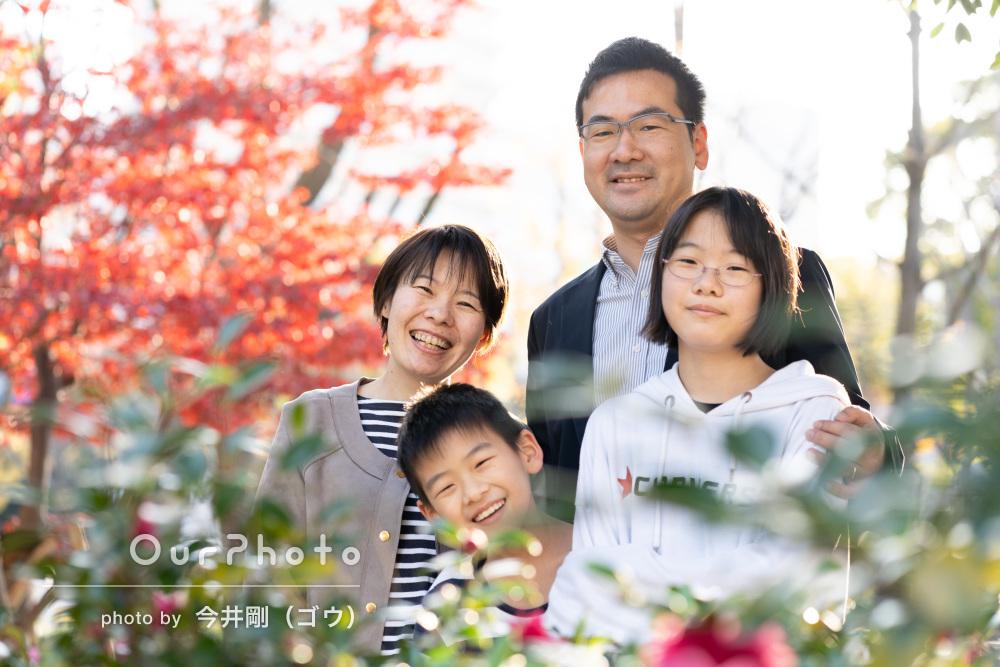 「1枚を選ぶのに困るくらい」年賀状用に笑顔いっぱいの家族写真の撮影