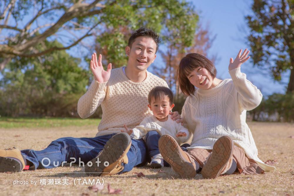 「またお願いしたいです」リンクコーデで笑顔のマタニティ&家族撮影