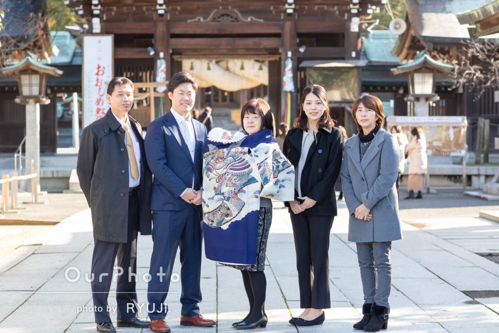 「穏やかなムードで」ご家族の笑顔が素敵なお宮参りの撮影