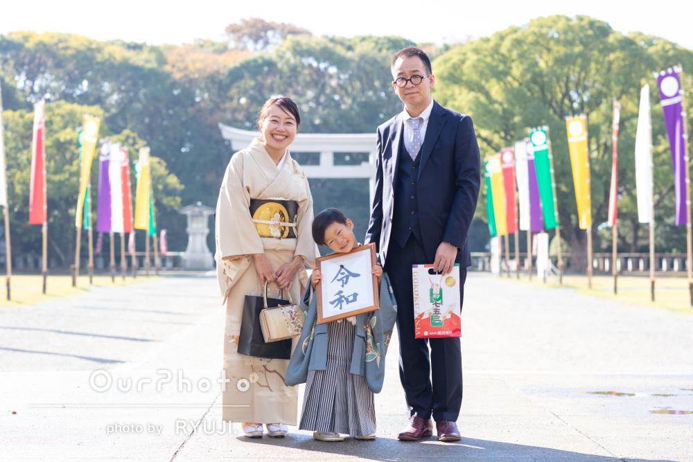 「素敵な家族写真を沢山」明るい笑顔が印象的な七五三の撮影