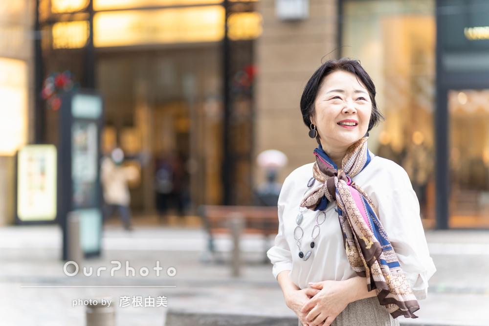 「服のアドバイスも頂き」まるでファッションモデル!プロフィールの撮影