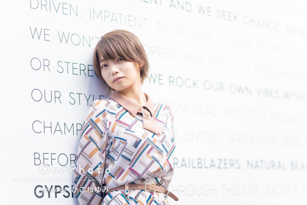 「柔軟に対応してくださりスムーズに」女性SNSプロフィール写真の撮影