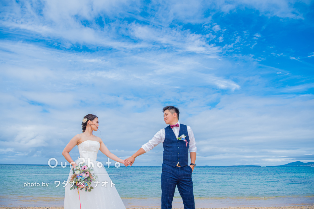 「とてもいい思い出になりました!」沖縄のビーチでウェディングの撮影