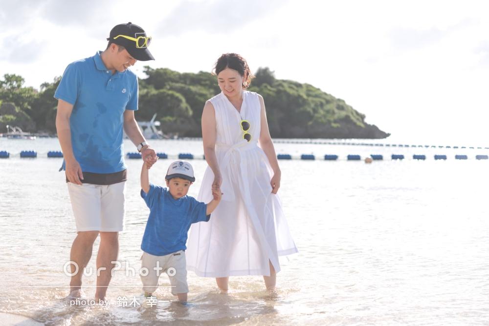 「どういうポーズで、などたくさんアドバイスをいただいて、とても楽しく緊張せずに撮影することができました。」家族写真の撮影