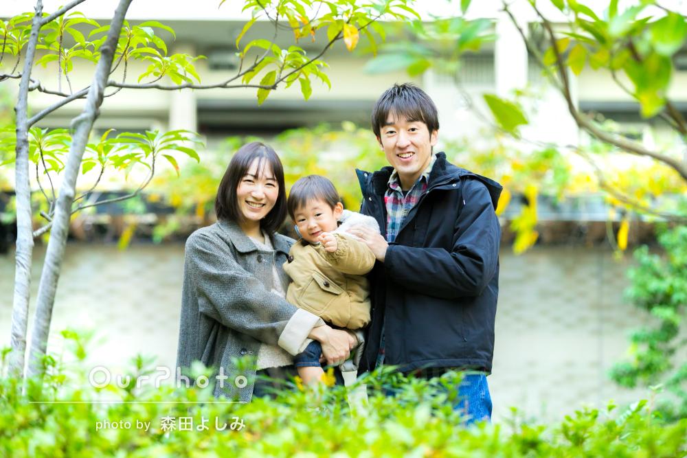 「子供の様子に合わせて」楽しみながら笑顔あふれる家族写真の撮影